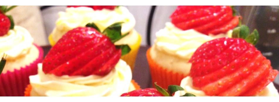 Strawberry cupcakes